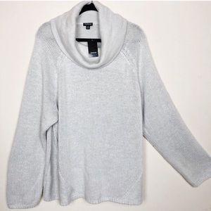 TORRID NWT Cowlneck Grey Sweater Size 4